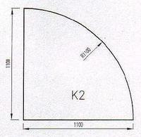 Podkladové sklo K2