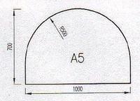 Podkladové sklo A5