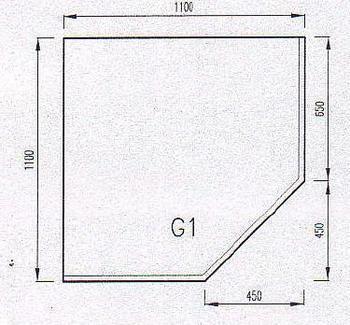 Podkladové sklo G1F-10