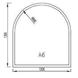 Podkladové sklo A6F8