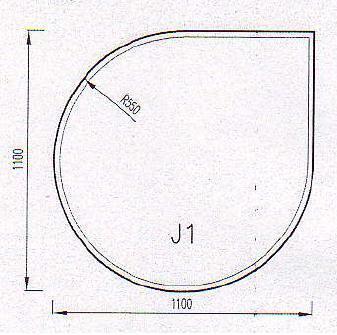 Podkladové sklo J1F
