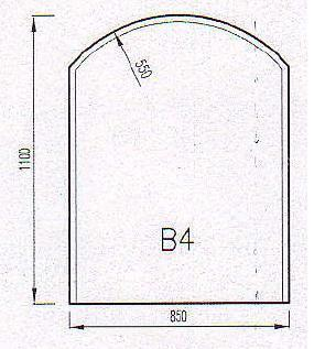 Podkladové sklo B4F-10