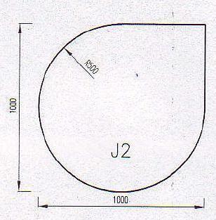 Podkladové sklo J2