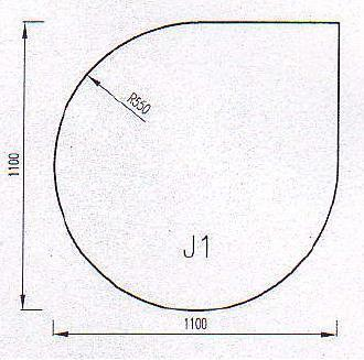 Podkladové sklo J1