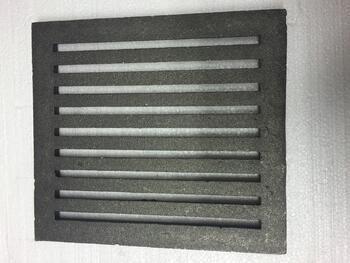 Litinový rošt 237 x 315 mm (9x12 palců)