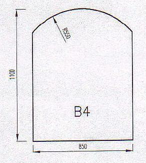 Podkladové sklo B4