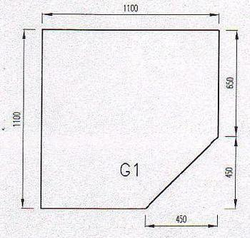 Podkladové sklo G1-10