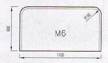 Podkladové sklo M6F