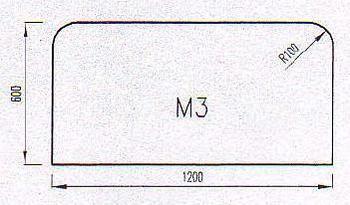 Podkladové sklo M3