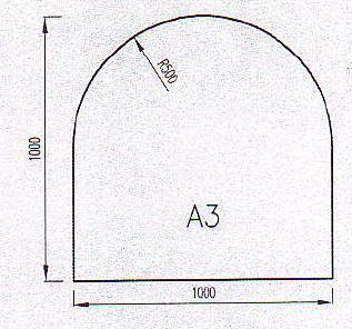 Podkladové sklo A3-10