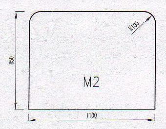 Podkladové sklo M2