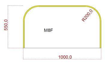 Podkladové sklo M8F