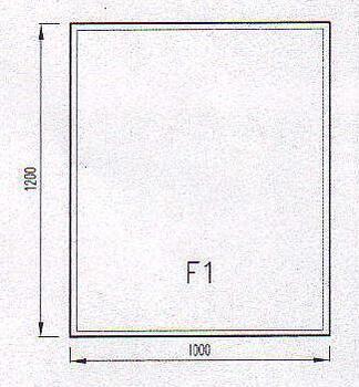 Podkladové sklo F1F-10