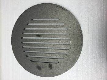 Litinový rošt kulatý masivní, pr. 330 mm - 1