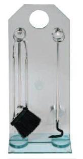 Krbové nářadí čtyřdílné nerez, stojan kalené sklo