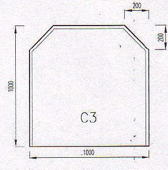 Podkladové sklo C3F-10