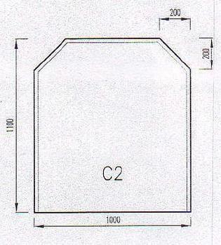 Podkladové sklo C2F