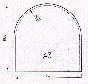 Podkladové sklo A3F