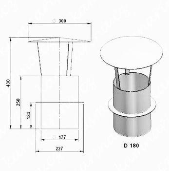 Komínová stříška  (průměr 180 mm)