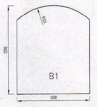 Podkladové sklo B1