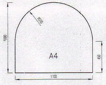 Podkladové sklo A4