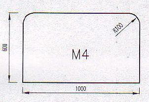 Podkladové sklo M4