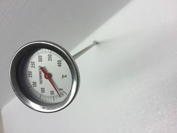 Teploměr do udírny, délka: 300 mm - 1