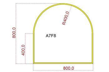 Podkladové sklo A7F8