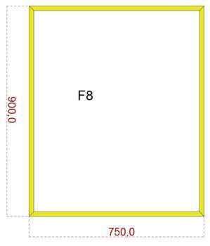 Podkladové sklo F8F