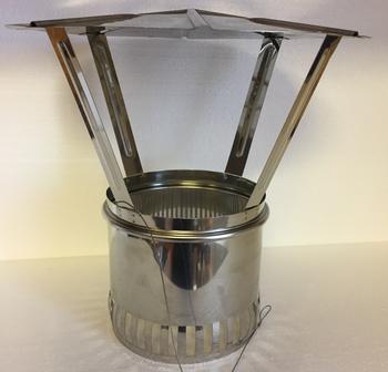 Komínová stříška Schiedel - nerez O 200 mm - 1