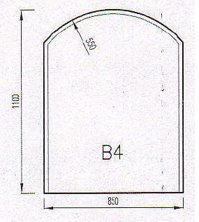 Podkladové sklo B4F