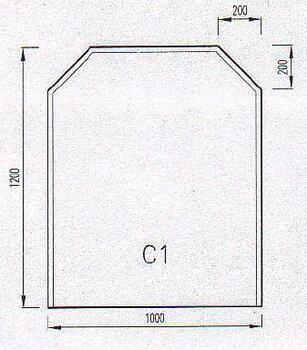 Podkladové sklo C1F
