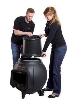 LEDA Troll 700 - litinový (smaltovaný) krb/gril/udírna - 2