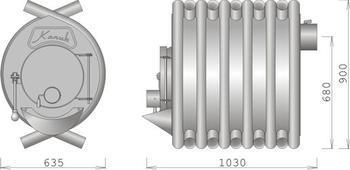 Kamna Kanuk 1 (10 kW) + nářadí Kanuk zdarma! - 2