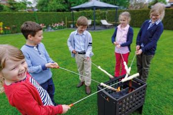LEDA Outfire Guss-Firebox - litinové ohniště, gril, hnědá barva - 2