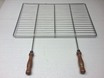 Grilovací rošt - 53 x 38 cm, dřevěná rukojeť - 2