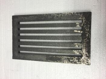 Litinový rošt 157 x 263 mm (6x10 palců) - 2