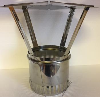 Komínová stříška Schiedel - nerez O 150 mm - 2