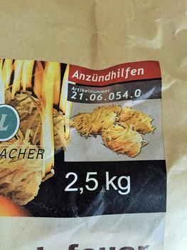 Lienbacher podpalovač z dřevité vlny - 2,5 kg - 200 kusů - 2