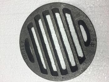 Litinový rošt kulatý 132 mm - 3