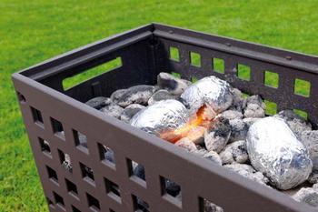 LEDA Outfire Guss-Firebox - litinové ohniště, gril, hnědá barva - 4
