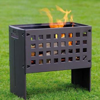 LEDA Outfire Guss-Firebox - litinové ohniště, gril, hnědá barva - 6
