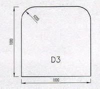 Podkladové sklo D3
