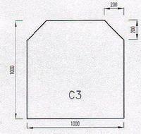 Podkladové sklo C3