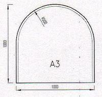 Podkladové sklo A3F-10