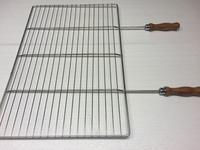 Grilovací rošt - 68 x 40 cm, dřevěná rukojeť